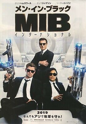 International,Chris Hemsworth Flyer chirashi Men in Black Movie Mini Poster