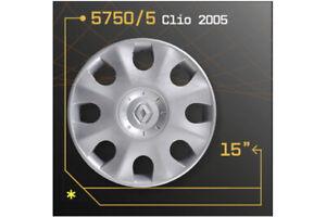 LOT-DE-4-ENJOLIVEURS-15-034-POUR-RENAULT-CLIO-2005-5750-5