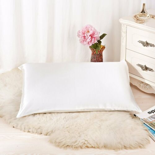 ALASKA BEAR Queen Size Natural Silk Pillowcase Hypoallergenic 600 thread count
