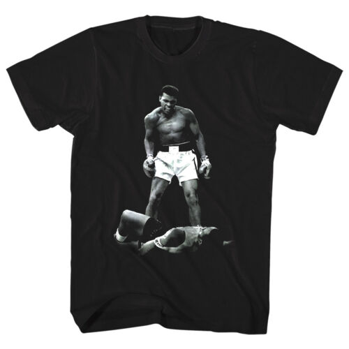 Muhammad Ali Over Sonny Liston Knockout Men/'s T Shirt KO Boxing Legend Champion