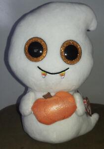 "e301f1ab8c6 Ty SCREAM -White Halloween Ghost W Pumpkin 6"" Beanie Boo!  Retired ..."