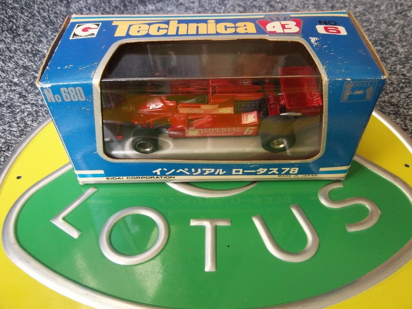 LOTUS 78 Technica 6 Imperial Gunnar Nilsson EIDAI GRIP Comme neuf boxed