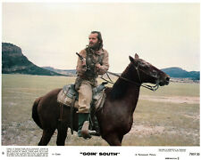 Goin South original lobby card Jack Nicholson on horse draws gun