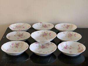 Antique Theodore Haviland Limoges Set of 10 Dessert Bowls