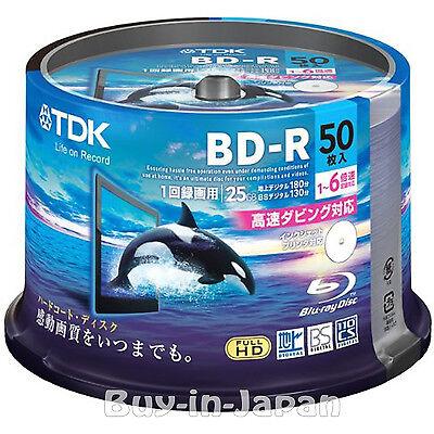 50 Verbatim Bluray DVD Video Discs BD-R 25GB 6X Speed Printable Bluray Discs