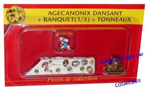 Le VILLAGE d/'ASTERIX n° 10 figurine AGECANONIX dansant au banquet Atlas PLASTOY