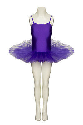 PURPLE DANCE FAIRY BALLET FULL TUTU LEOTARD ALL SIZES  BY KATZ DANCEWEAR