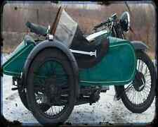 Bsa G14 02 A4 Photo Print Motorbike Vintage Aged
