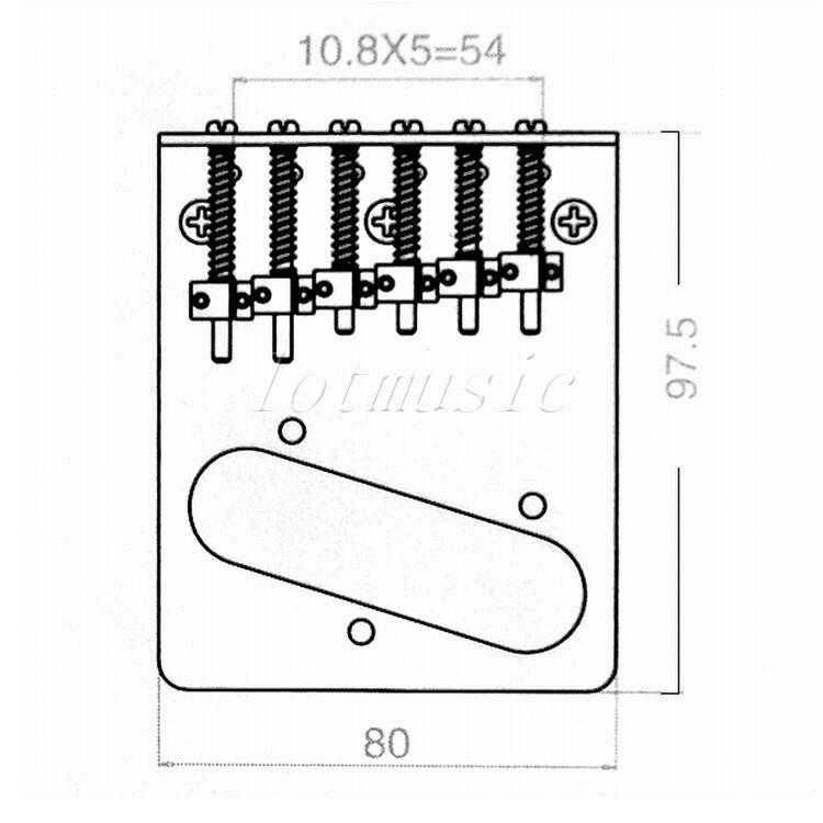 2pcs chrome bridge for fender tele assembly 3 saddle top load guitar parts