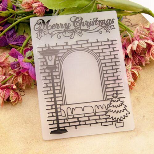 merry Christmas window DIY Paper Crafts Template Embossing Folder Stencils CG
