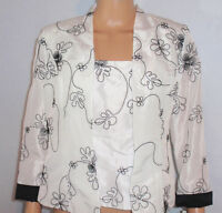 J.r. Nites By Caliendo Woman's 2 Piece Embroidered Bustier & Jacket Top - Size 6