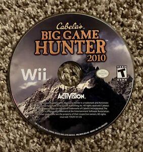 Cabelas Big Game Hunter 2010 Wii Disc