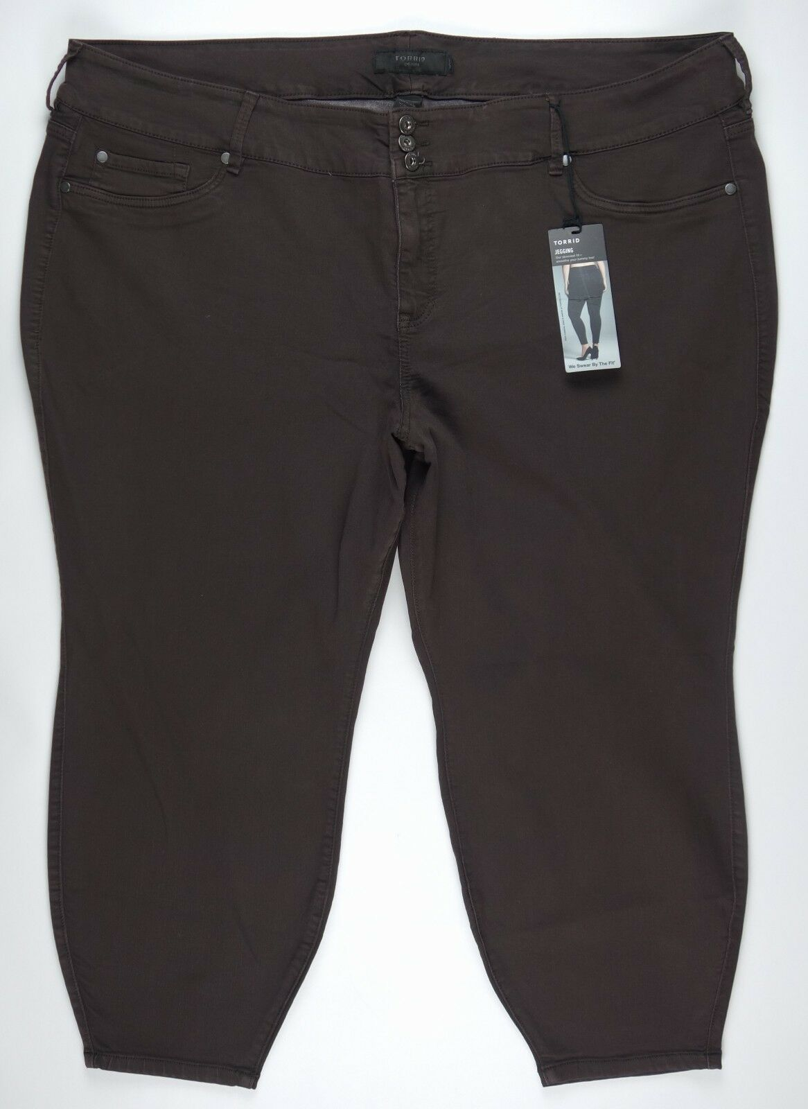 TORRID  Womens  JEGGING DARK BROWN XSHORT Jeans  Size 30XS NWT