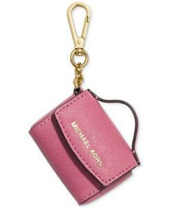 Details zu Michael Kors Ava Schlüsselanhänger Taschenanhänger Münzbörse Leder Tulpe