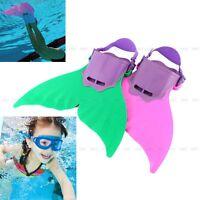 Child Kids Girls Boys Mermaid Mono Fin Swimmable Tail Flippers Swimming Costume