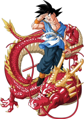STICKERS AUTOCOLLANT TRAN.POSTER A4 MANGA DRAGON BALL Z SANGOKU /& DRAGON SHENRON