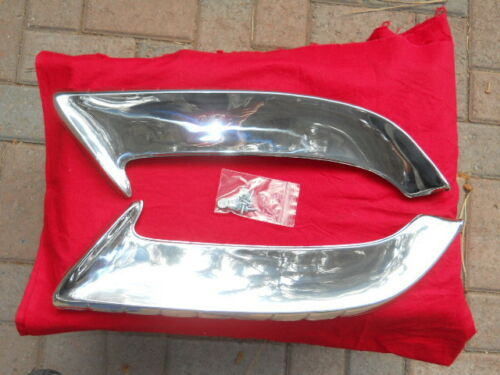 Nomad Front Fender Gravel Guards Pr *Repaired Stud /'55 Chevy B//A 210 150 Convt
