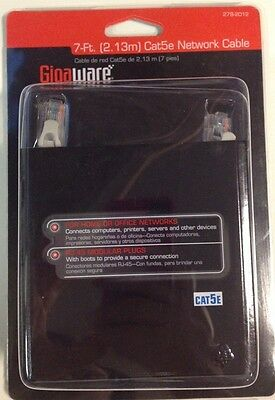 New Gigaware 7-Ft Cat5e Network Cable Internet LAN Computer Printer 278-2012