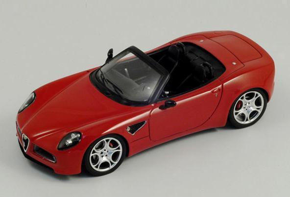 Alfa Romeo 8C Spider  Rosso  2005 (Spark 1 43   S0397)
