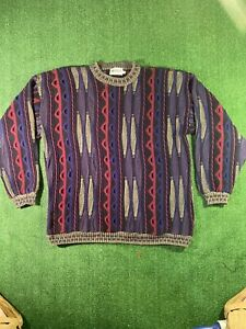 VTG-90s-COOGI-Style-3d-Megalos-Pullover-Bill-Cosby-Hip-Hop-Biggie-Notorious-B-I-G-2xl