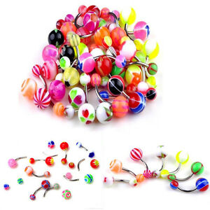 50pcs-Belly-Button-Navel-Ring-Bar-Bars-Body-Piercing-Jewellery-Rings-Makeup