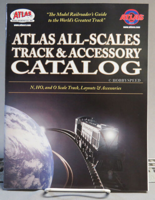 ATLAS ALL SCALE TRACK/ACCESSORY CATALOG toy train dealer book N HO O ATL104  NEW