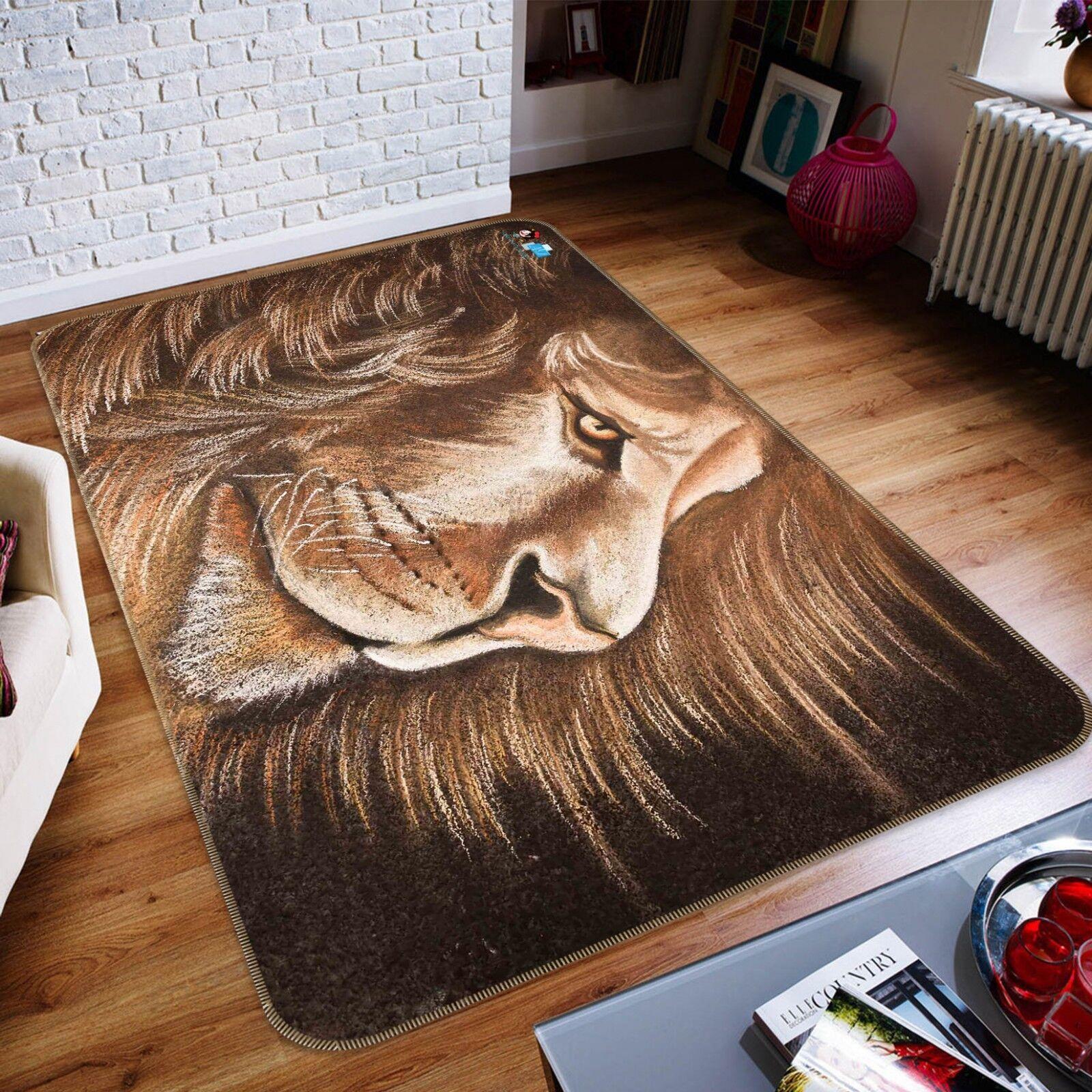 3D 3D 3D Hübscher Löwe Rutschfest Teppich Matte Raum Matte Qualität Elegant Teppich DE 1eab17
