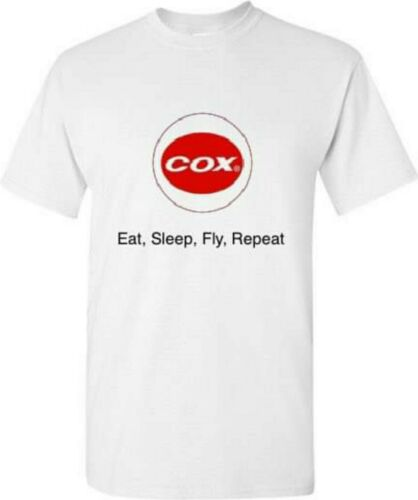 large eat, sleep, fly, repeat medium Cox engine .049 T-shirt. sizes small XL