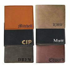 Custom Engraved Leather Bi Fold Wallet - Personalized Men's Gift For Groomsmen
