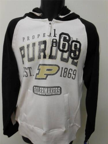 New Purdue Boilermakers Adult Mens Sizes S-L White 1//4 Zip Nice Quality Hoodie