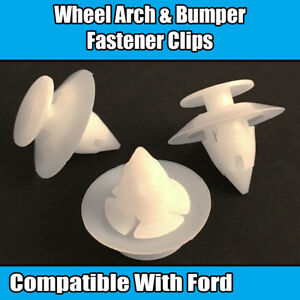 10x Clips for Ford KA Wheel Arch Bumper Fastener Fixing Trim Plastic 1038008
