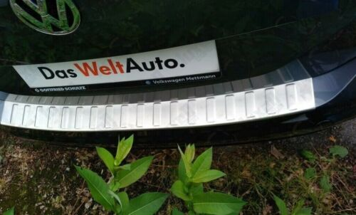 VW Touran 5T1 2015Up Chrome Rear Bumper Protector Scratch Guard S.Steel