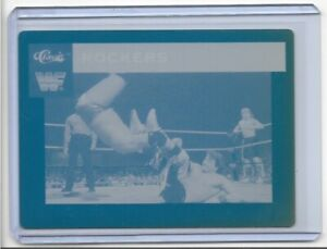 1-1-THE-ROCKERS-1991-CLASSIC-CARDS-PRINTING-PRESS-PLATE-WRESTLING-WF-TAG-TEAM