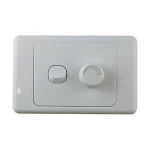 2 gang wall plate with switch led light dimmer universal saa approved. Black Bedroom Furniture Sets. Home Design Ideas
