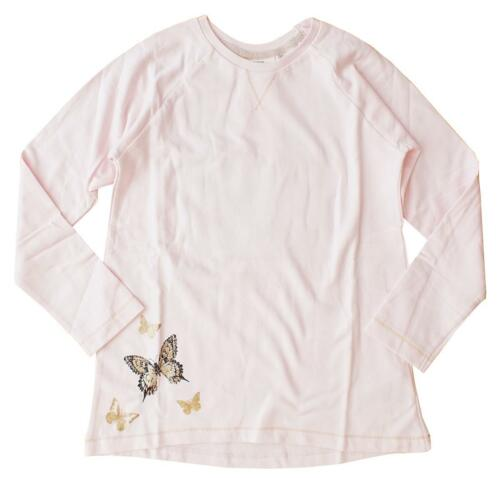 Girls Glitter Butterfly Front /& Back Print Long Sleeve Top Pink 1 to 8 Years