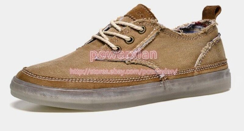 Scarpe casual da uomo Up uomos Lace Up uomo Sneakers Breathable Denim Plimsolls Low Top Flats Classic Shoes 44 4a89d9