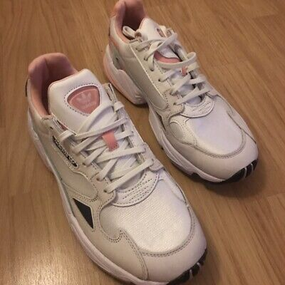 Adidas Originals Falcon In White Tint And Trace Pink Brand New Size UK 7.5 | eBay
