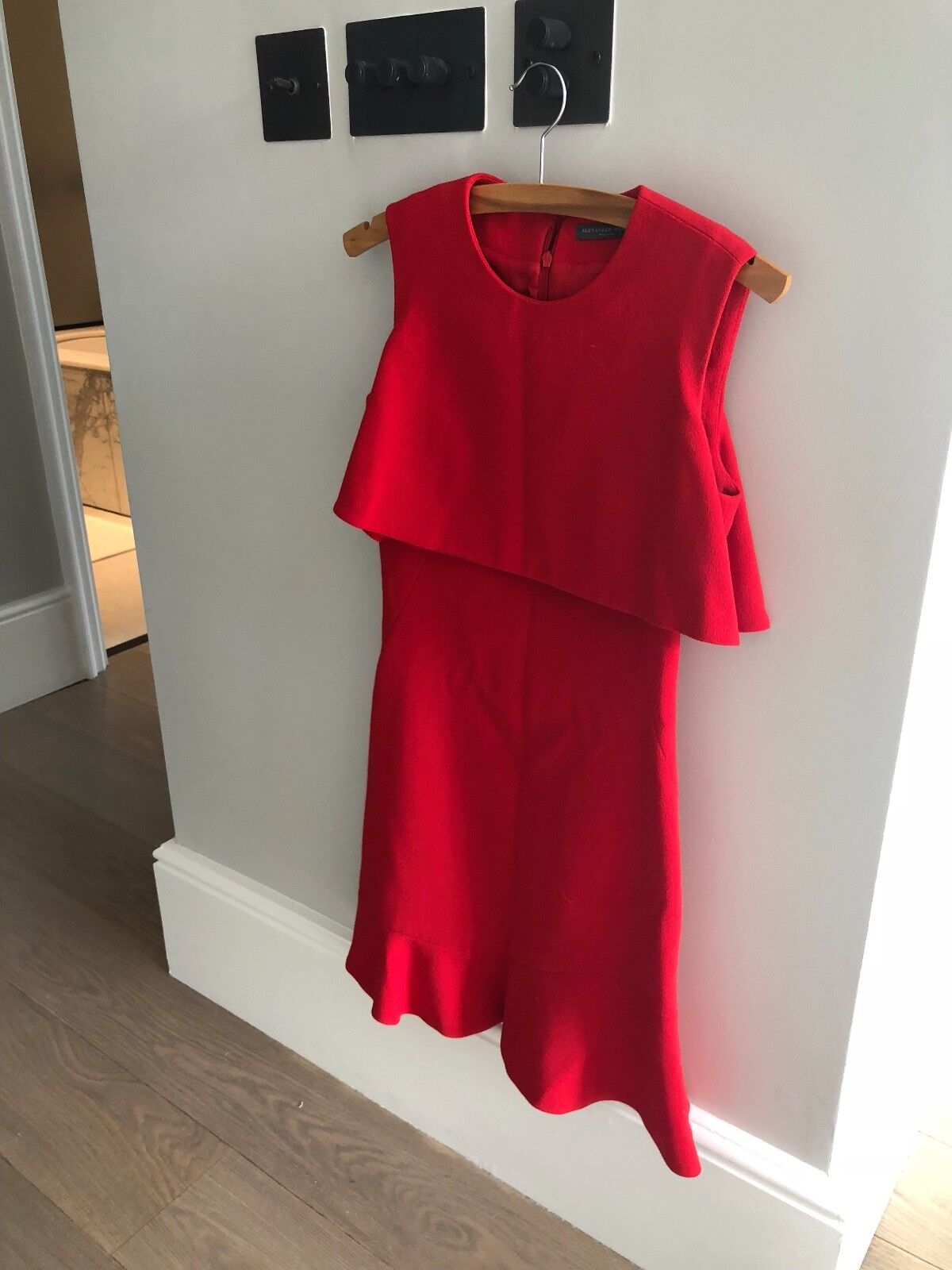 Alexander Mcqueen red dress, size S