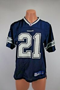 classic fit 6613a 697b5 J. JONES #21 DALLAS COWBOYS FOOTBALL JERSEY Youth Sz L Blue ...