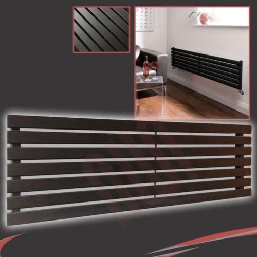 """h x 516mm 1850mm /""""Corwen/"""" Horizontal Black Radiator 4914 BTUs 7 Flat Panels w"""
