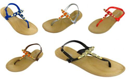 Filles gem plat bride cheville flip flop été sandales chaussures lanières enfants