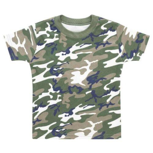Baby Kleinkind Armee T-Shirt 0-3 M 5-6YR Super Weich Baumwolle Tarnfarbe Top