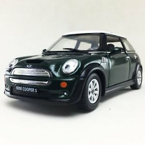 New 5 Kinsmart Mini Cooper S Diecast Model Toy Car 1 28 Green Ebay