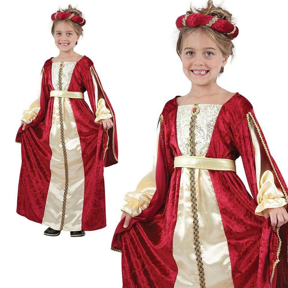 Tudor Reina Roja Juliet girls//childrens Fancy Dress Costume