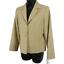 NWT-Pendleton-Tan-100-Wool-Button-Front-Blazer-Jacket-Women-039-s-Petite-Size-6P miniatuur 2