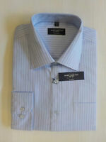 "RussellCollection Mens Long Sleeve Blue Shirt (942M)collar Med.15½"" 39/40cm"
