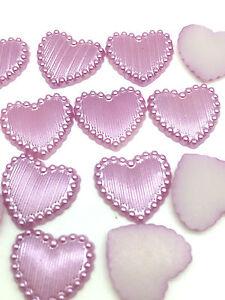 NEW-Hot-50PCS-Charm-resin-Stripe-DIY-heart-Scrapbook-Craft-15MM-Flatback-Purple