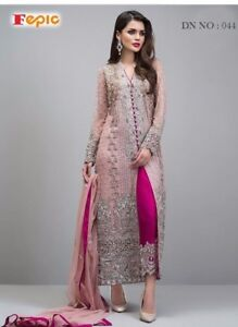a6df0f41c0 Image is loading Heavy-Work-Pakistani-Salwar-Kameez-Designer-Indian-Wedding-