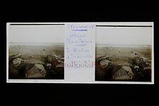 Grèce Greece Le Vardar Macédoine Plaque stéréo WW1 Front d'Orient 1918