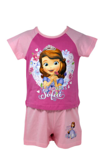 Officially Certified Sofia the First Girl/'s Kid/'s Shirt /& Shorts Set Pyjama Set